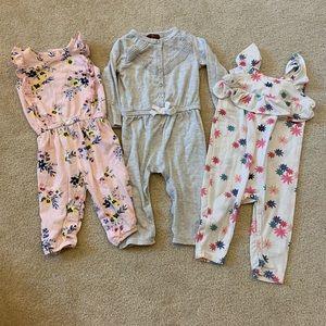 6-9 month baby girl romper bundle